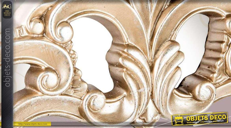 miroir de style baroque argent et nacr 105 cm. Black Bedroom Furniture Sets. Home Design Ideas