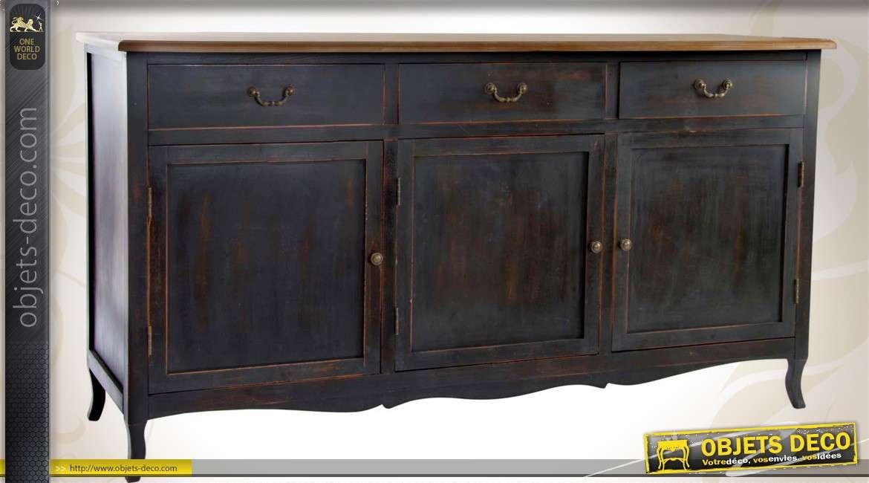 enfilade trois portes de style campagne patin e noir antique. Black Bedroom Furniture Sets. Home Design Ideas