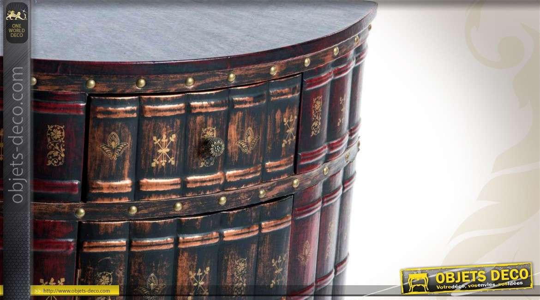 Encoignure basse une porte et un tiroir finition livres for Meuble une porte et un tiroir