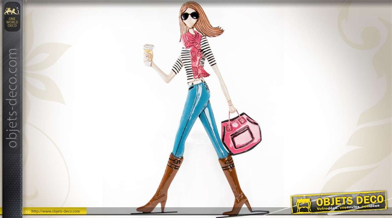 D coration murale jeune fille et shopping 70 cm for Decoration murale fille