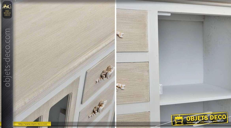 buffet bas deux portes vitr es et quatre tiroirs. Black Bedroom Furniture Sets. Home Design Ideas