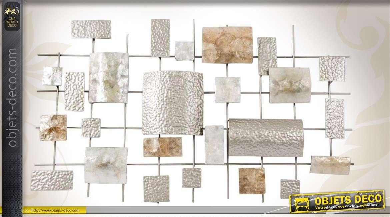 canevas mural en forme de structure d corative en m tal 100 cm. Black Bedroom Furniture Sets. Home Design Ideas