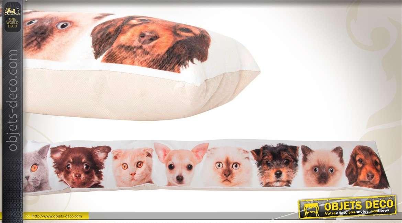 boudin bas de porte en tissu avec motifs chats et chiens. Black Bedroom Furniture Sets. Home Design Ideas