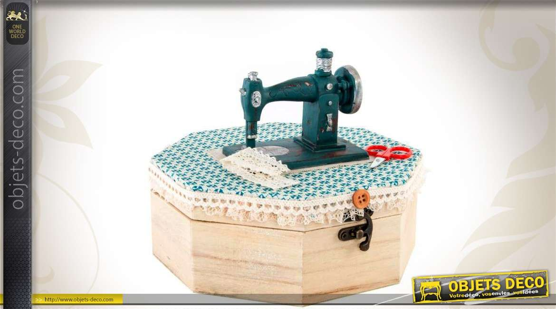 boite hexagonale en bois