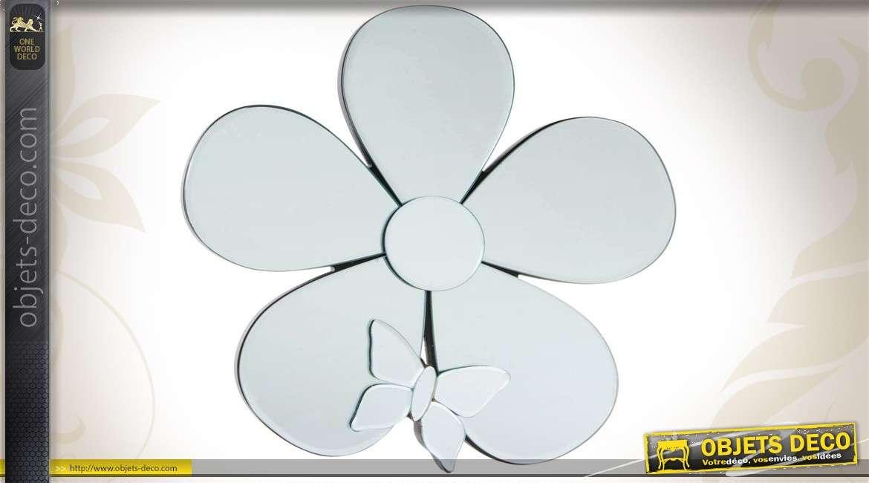 Miroir mural d coratif en forme de fleur 30 cm - Decoration murale miroir ...