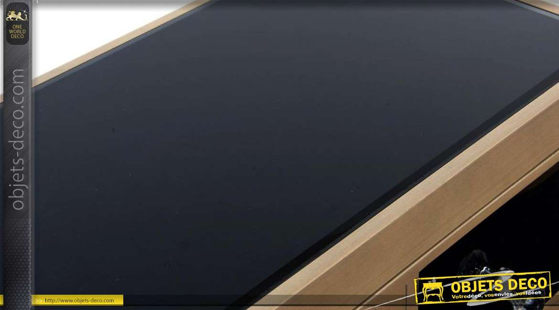chiffonnier design 5 tiroirs finition noir et or. Black Bedroom Furniture Sets. Home Design Ideas