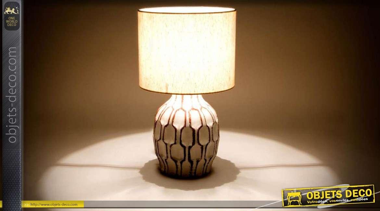 lampe de salon moderne en ceramique avec abat jour cylindrique