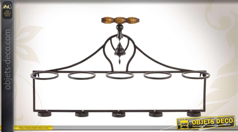 support mural en m tal porte bouteilles style r tro 66 cm. Black Bedroom Furniture Sets. Home Design Ideas