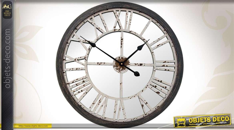 Gallery of horloge dco cm finition ancienne avec miroir with grosse horloge murale ancienne for Grosse horloge blanche