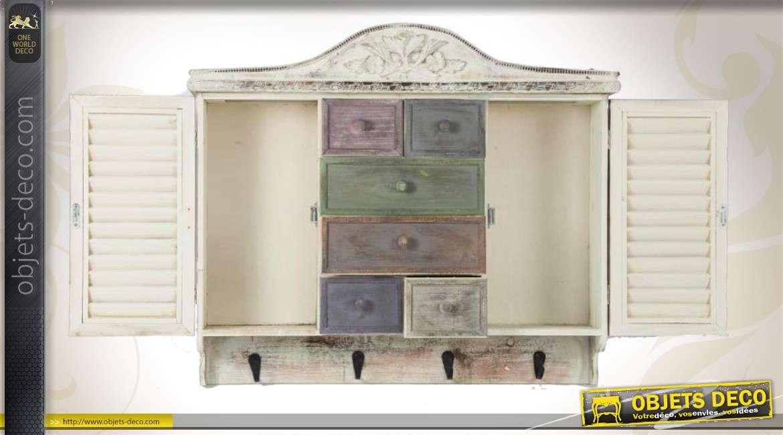 Meuble tag re de cuisine avec tiroirs de style r tro Facade seule pour meuble de cuisine persienne