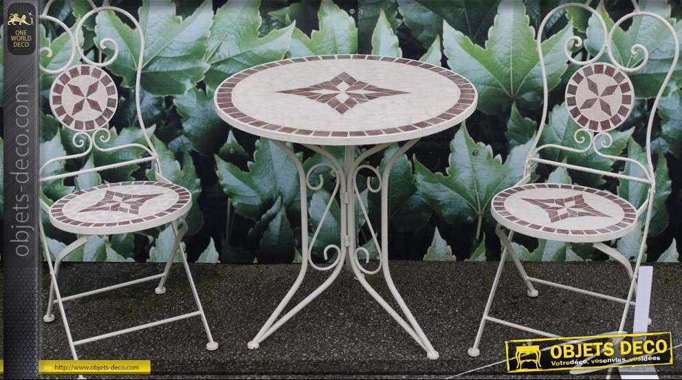 emejing table de jardin mosaique fer forge photos awesome interior home satellite. Black Bedroom Furniture Sets. Home Design Ideas