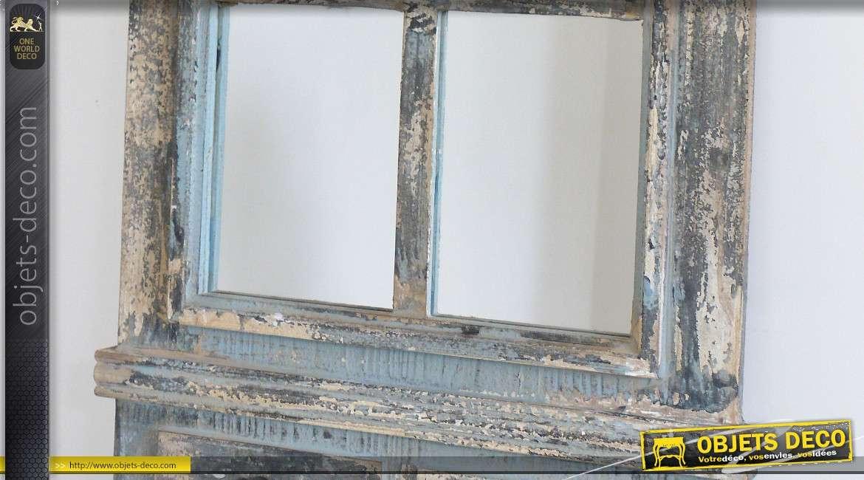 Miroir fen tre en arcade de style rustique et brocante 111 cm - Miroir style fenetre ...