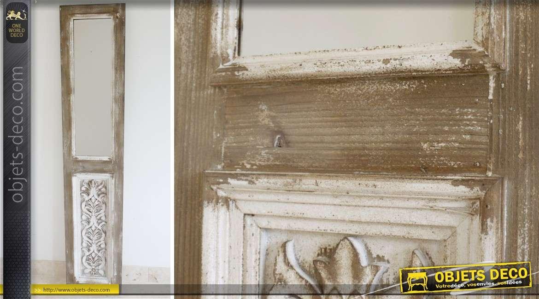 Miroir porte de style rustique et brocante 186 cm for Miroir rustique