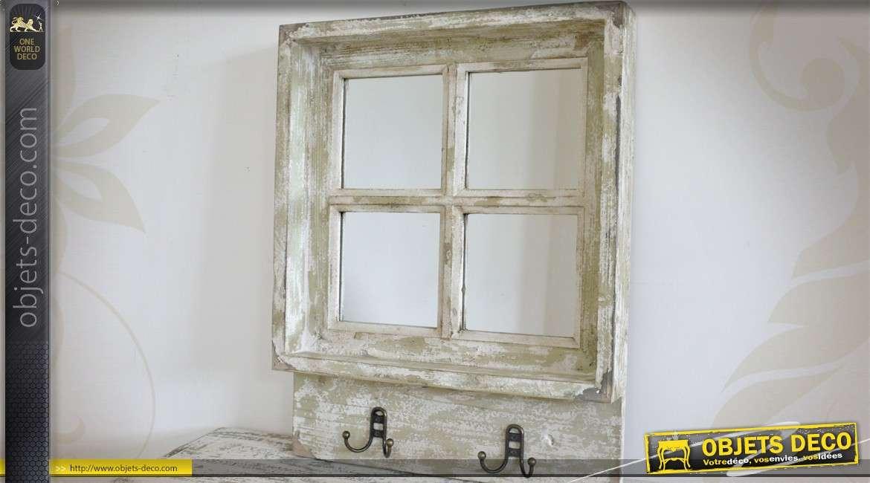 Miroir en fen tre coloris blanc for Decoration miroir fenetre