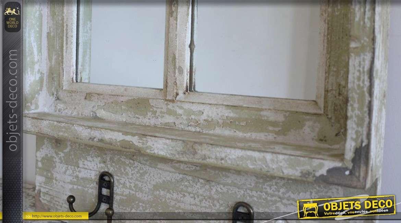 Miroir fen tre de style r tro et brocante avec 2 pat res 58 cm for Decoration murale avec miroir