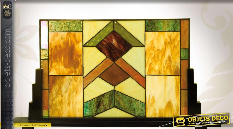 panneau d coratif en vitrail de style tiffany art d co 83 cm. Black Bedroom Furniture Sets. Home Design Ideas
