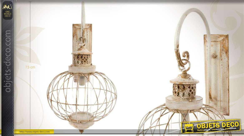 Très grande applique en forme de lanterne suspendue 73 cm
