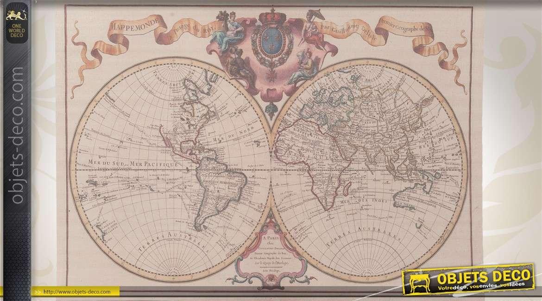 d coration murale carte de monde par guillaume delisle. Black Bedroom Furniture Sets. Home Design Ideas