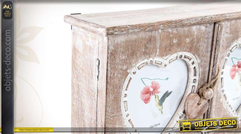 armoire cl s murale en bois finition vieillie. Black Bedroom Furniture Sets. Home Design Ideas