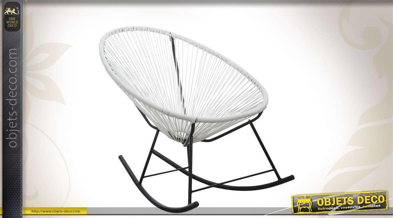Rocking-chair design coloris blanc et noir