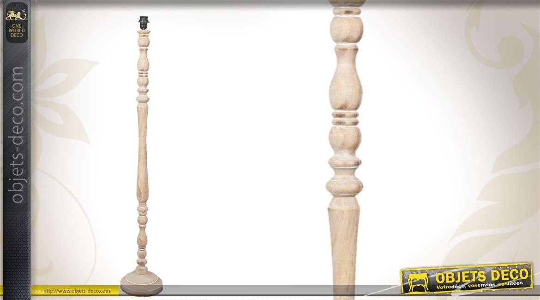 Emejing pied lampadaire bois tourne ideas amazing house design - Pied de lampe en bois brut a peindre ...