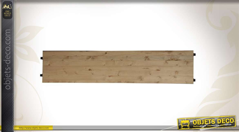 Etagère de jonction en bois et métal 26 cm