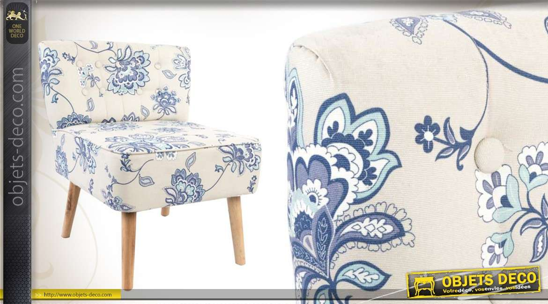 18220a fauteuil tissu fauteuil en bois et en tissu motifs floraux coloris blanc et bleu Résultat Supérieur 50 Unique Fauteuil Tissu Bleu Image 2017 Kjs7