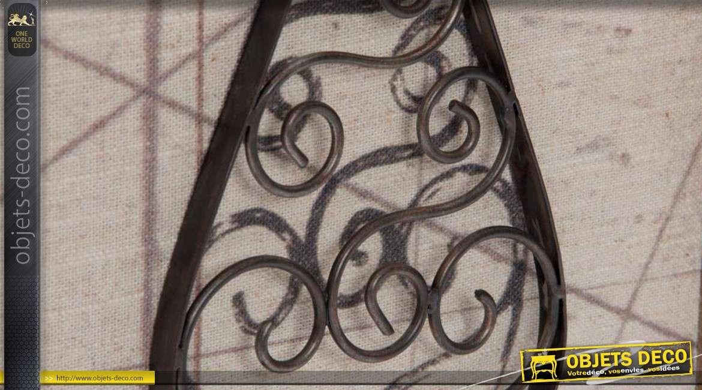 D Coration Murale Vintage R Alis E En Bois M Tal Et Tissu Motifs Couverts