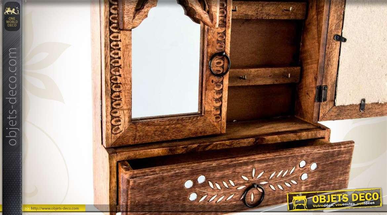Miroirs Clefs Murale Avec Armoire Bois Sculpté En À FKT1Jcl