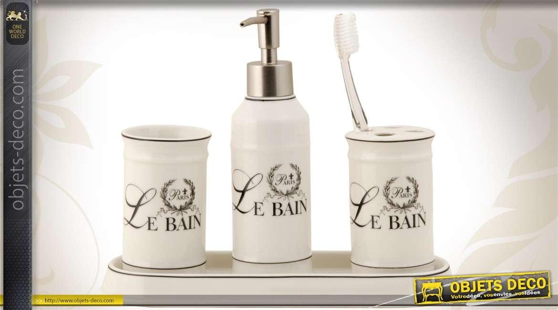 Set de 4 accessoires pour salle de bain - Accessoires pour salle de bain ...