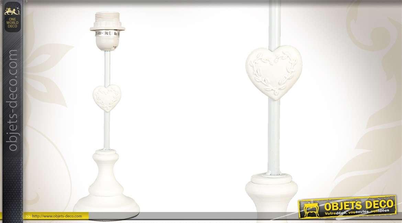 Pied De Lampe En Bois Coloris Blanc De Style Romantique