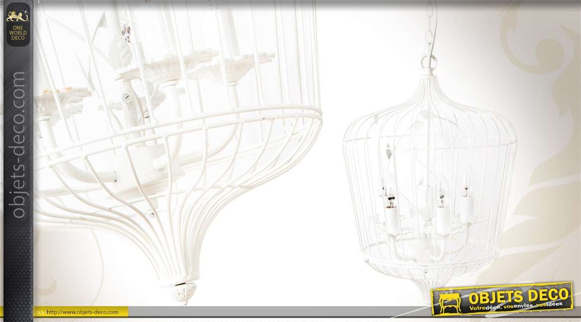 lustre cage oiseaux de style romantique. Black Bedroom Furniture Sets. Home Design Ideas