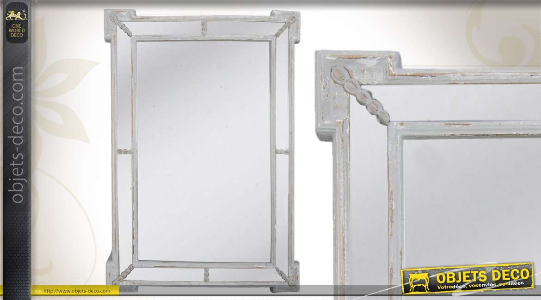 Miroir de style ancien dor 80 cm for Miroir gris argent