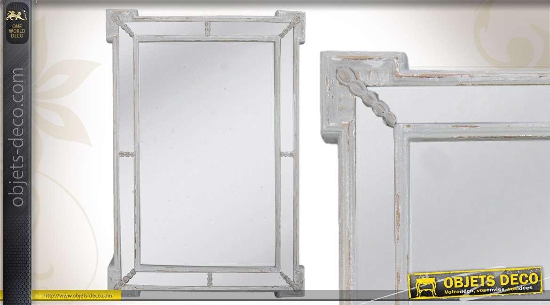 Miroir de style ancien dor 80 cm for Miroir mural metal