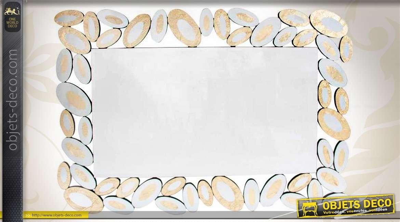 Miroir rond de style art d co motifs de papillons 80 cm for Miroir rond 120 cm