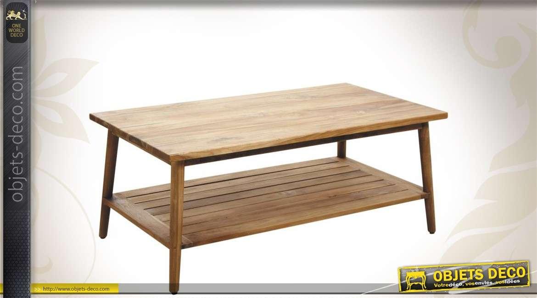 Table basse en bois de style contemporain
