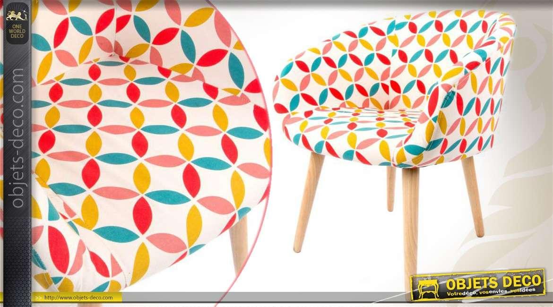 De Style Et Coloré Tissu Fauteuil Scandinave Bois En lKT1u5F3Jc