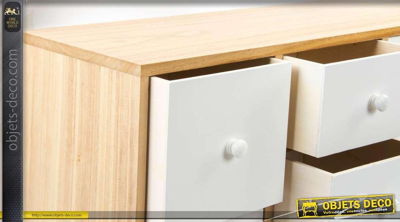 meuble tv en bois 8 tiroirs de style scandinave. Black Bedroom Furniture Sets. Home Design Ideas