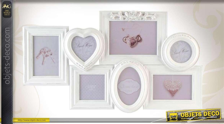 Relative Pêle-mêle mural romantique à 7 vues ornementation florale QE62