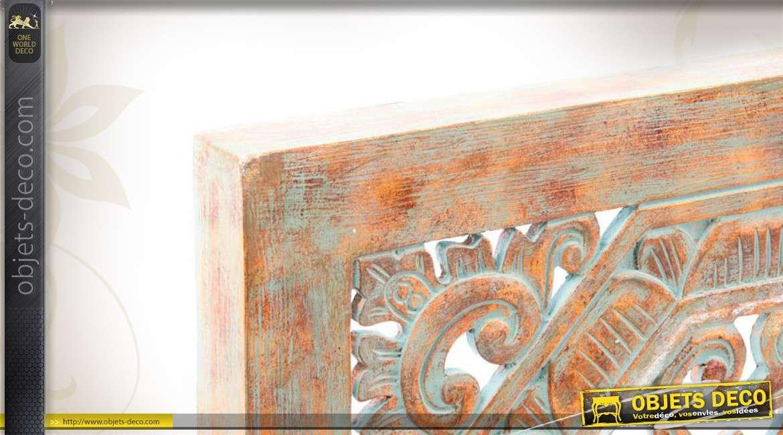 Decoration Murale Cuisine Ancienne : Décoration murale en bois sculpté et patiné finition ancienne