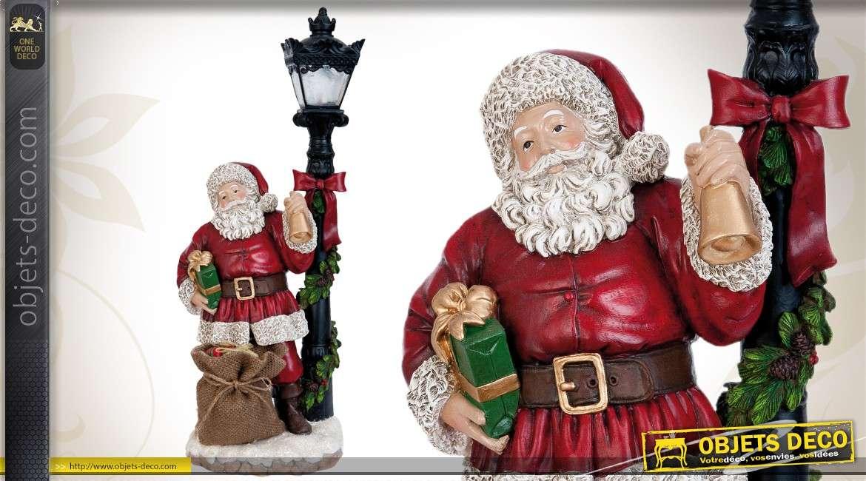 Statuette ornementale représentant le Père-Noël (éclairage LED) 46 cm