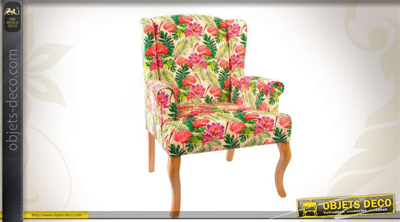 fauteuil d co en bois et en tissu divers motifs et coloris vari s. Black Bedroom Furniture Sets. Home Design Ideas