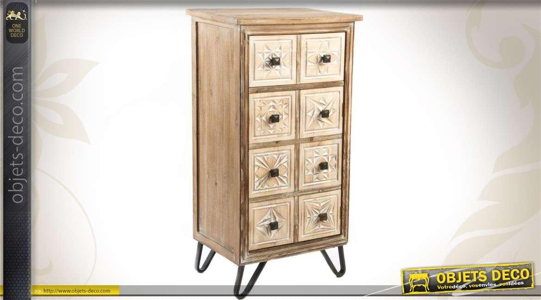 meuble tag re de cuisine avec tiroirs de style r tro. Black Bedroom Furniture Sets. Home Design Ideas