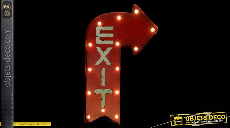 D coration murale lumineuse en m tal rouge exit for Decoration murale lumineuse