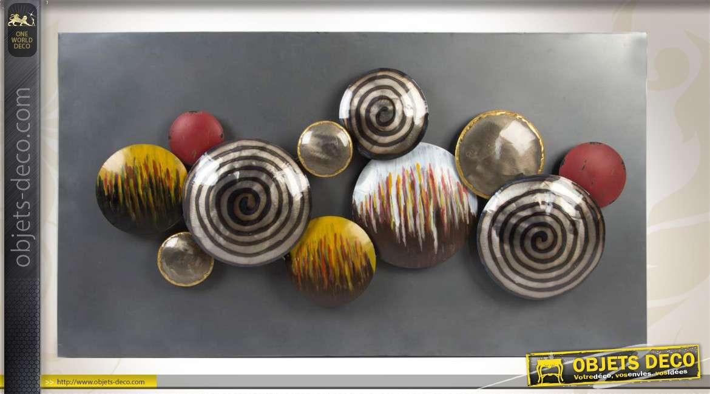 D co murale les sph res m tallis es - Objet decoration murale metal ...