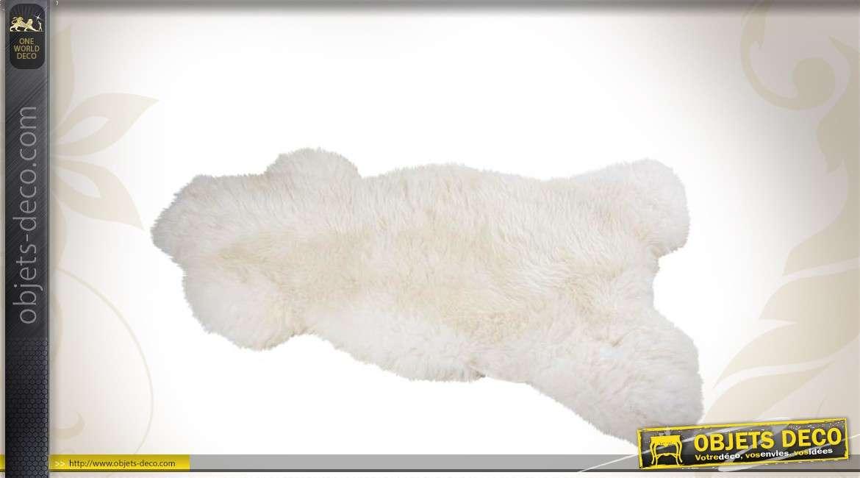 Tapis peau de mouton naturelle coloris ivoire
