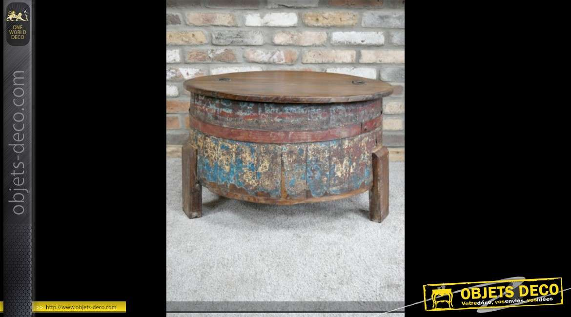 Table Basse En Forme D Ancien Tonneau Recyclé Fabrication