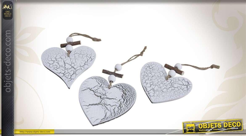 Trio de coeurs décoratifs à suspendre