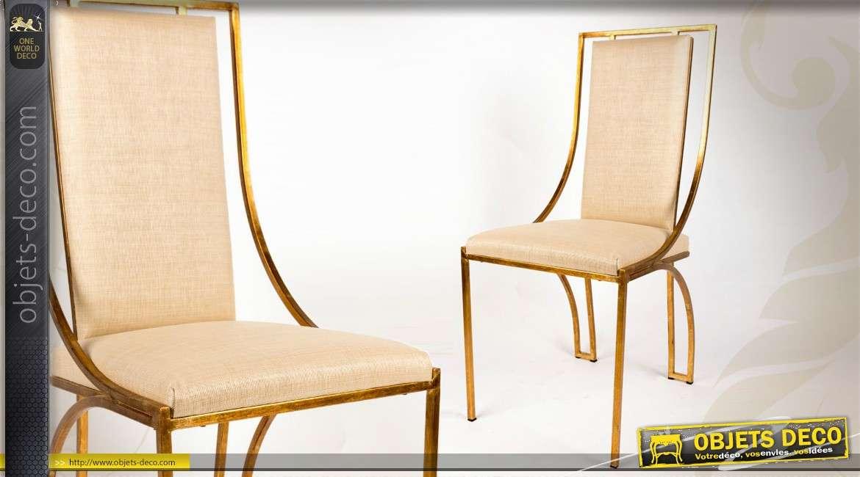 Chaise de salle manger en similicuir marron - Chaises de style ancien ...