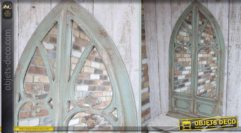 Miroir mural en forme de fen tre avec volets for Miroir mural decoratif